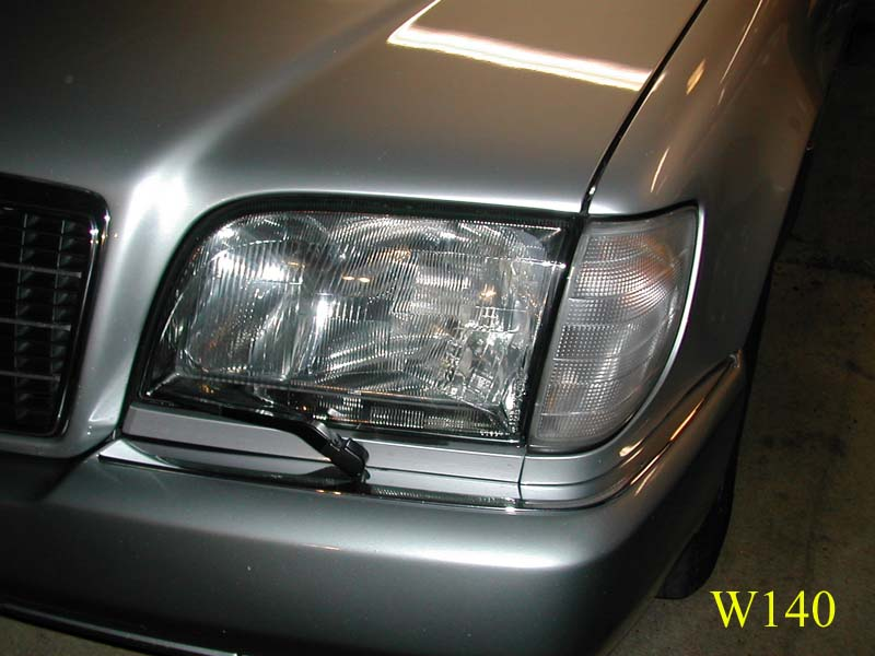 Car Windshield Replacement >> European Headlight Conversion on the W140