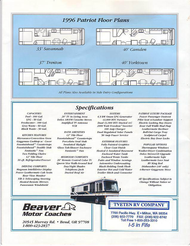Beaver Brochure Archive