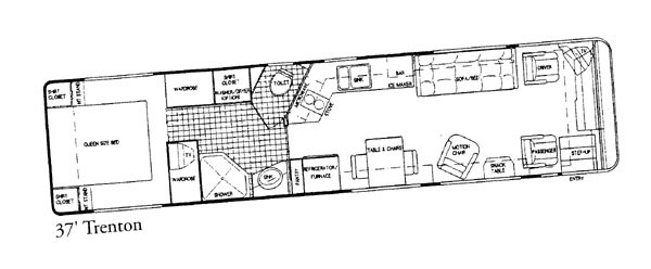the 37' trenton floor plan -- all the features of a 40' in 37'