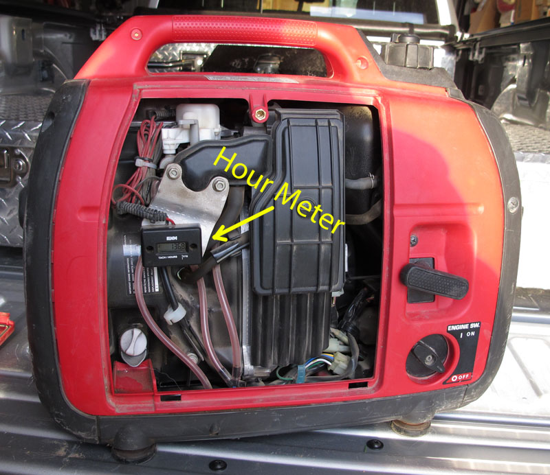 Honda Hour Meter : Installing a generator compartme